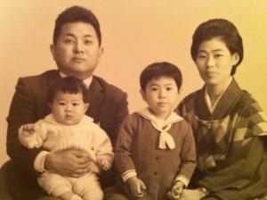 若かりし頃の父と私たち